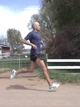 Runner heel striking on an extended leg downhill: an indication for Anterior Shin Splints